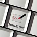 La fin de la signature manuscrite signée par Universign