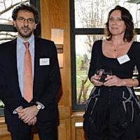 Hervé Paruta (BNP Paribas) et Hélène Franco (Repetto).
