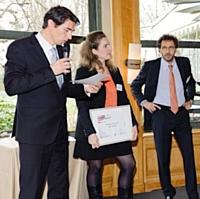 Xavier Mayeur (Éditialis Factory), Audrey Mougenot (Ares) et Hervé Paruta (BNP Paribas).
