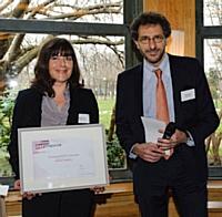 Corinne Felot (McPhy Energy, représentant Jean-Pascal Bost) et Hervé Paruta (BNP Paribas).