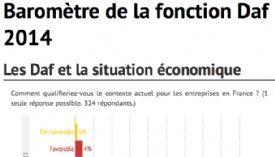 [Infographie] Baromètre de la fonction Daf 2014