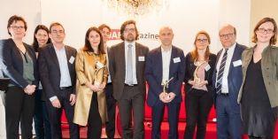 Trophées DAF magazine : Alexandra Trigano (Pylones), Serge Durif (Darégal) et Carole Gauthier-Longeard (DPAM)