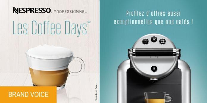 Le café à son sommet avec Nespresso Professionnel